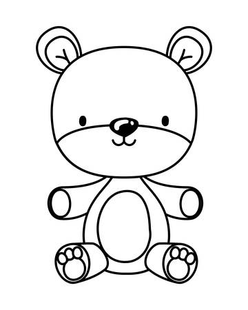 teddy bear design, Toy childhood play fun kid game gift and object theme Vector illustration