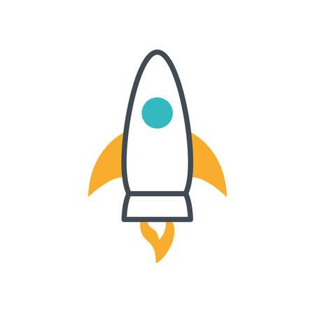 rocket launcher start up icon vector illustration design