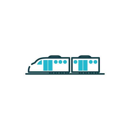 Bullet train vehicle design, Transportation travel trip urban motor speed fast automotive and driving theme Vector illustration Illustration