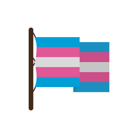 Transgender flag design, Sexual orientation gender identity love celebration equality pride holiday and festive theme Vector illustration