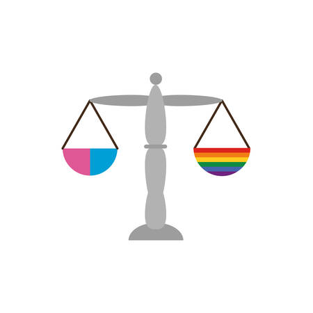 lgtbi scale design, Sexual orientation gender identity love celebration equality pride holiday and festive theme Vector illustration