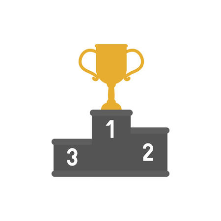 Trophy icon design, Winner first competition success sport best leadership compete and challenge theme Vector illustration