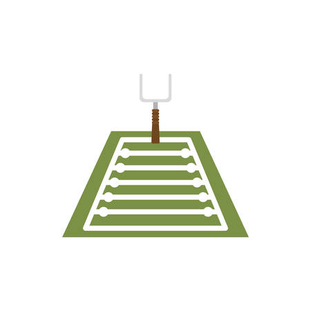 Gate and field design, American football super bowl sport hobby competition game training equipment tournement and play theme Vector illustration