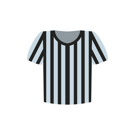 Referee tshirt design, American football super bowl sport hobby competition game training equipment tournement and play theme Vector illustration Illustration