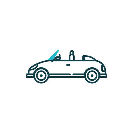 roadster car vehicle design, Transportation travel trip urban motor speed fast automotive and driving theme Vector illustration