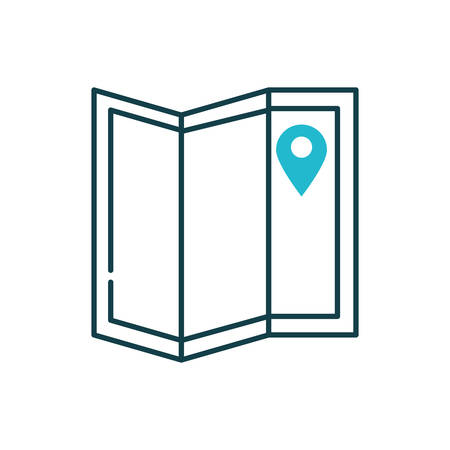 Gps mark and map design, travel navigation route road location technology search street and direction theme Vector illustration