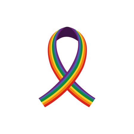 lgtbi ribbon design, Sexual orientation gender identity love celebration equality pride holiday and festive theme Vector illustration
