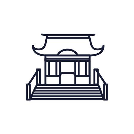 Buddhism church design, Religion culture belief religious faith god spiritual meditation and traditional theme Vector illustration Ilustrace