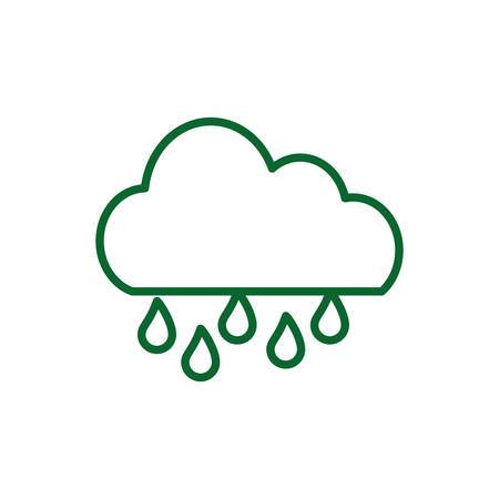 Cloud and rain design, Weather sky nature climate cloudy season and meteorology theme Vector illustration Illustration
