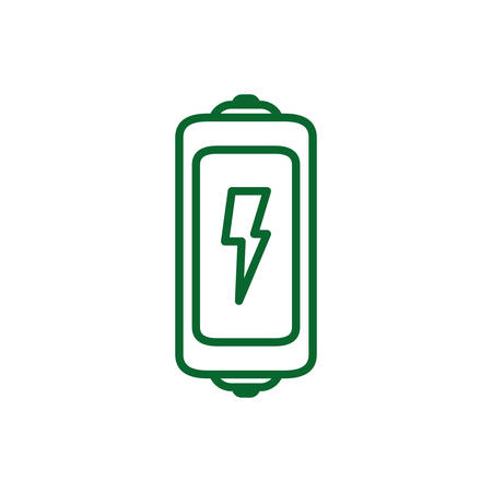 Battery design, Eco energy power save sustainable environmental nature and conservation theme Vector illustration