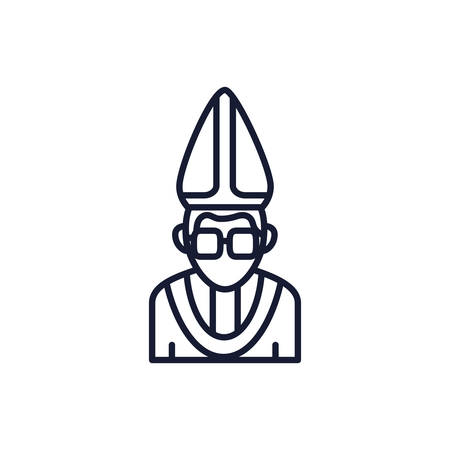 Christian and catholic pope design, Religion culture belief religious faith god spiritual meditation and traditional theme Vector illustration Ilustrace