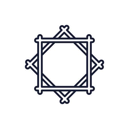 Lakshmi star symbol design, Religion culture belief religious faith god spiritual meditation and traditional theme Vector illustration Ilustrace
