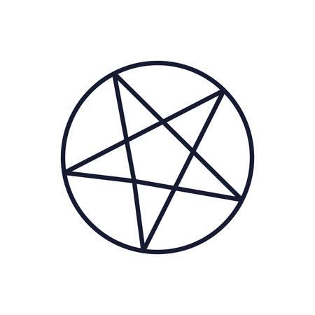 Satanism symbol design, Religion culture belief religious faith god spiritual meditation and traditional theme Vector illustration