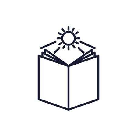 Christian and catholic bible and sun design, Religion culture belief religious faith god spiritual meditation and traditional theme Vector illustration Ilustrace