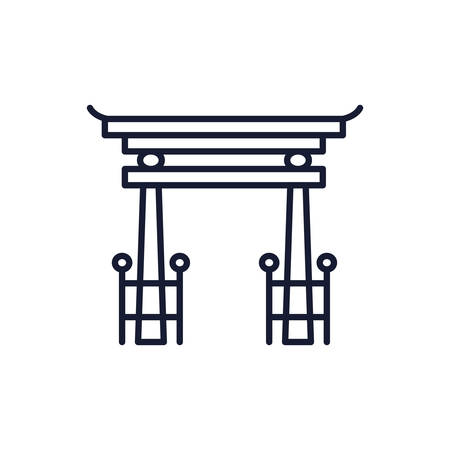 shinto tori gate symbol design, Religion culture belief religious faith god spiritual meditation and traditional theme Vector illustration