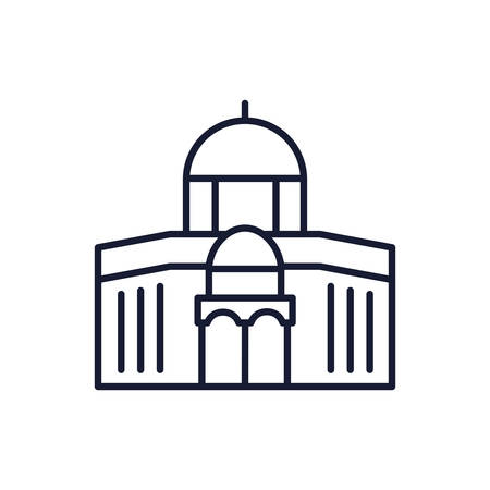 Islam mosque design, Religion culture belief religious faith god spiritual meditation and traditional theme Vector illustration