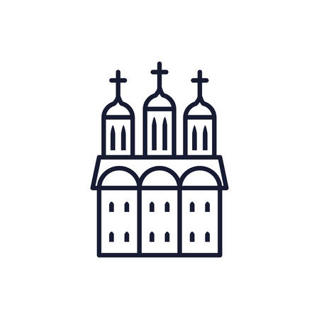 Orthodoxy church design, Religion culture belief religious faith god spiritual meditation and traditional theme Vector illustration