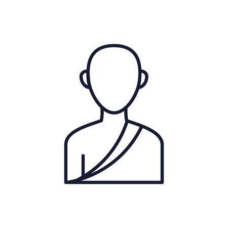 Buddhism man avatar design, Religion culture belief religious faith god spiritual meditation and traditional theme Vector illustration
