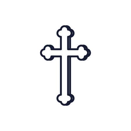 Christian and catholic cross symbol design, Religion culture belief religious faith god spiritual meditation and traditional theme Vector illustration Ilustrace
