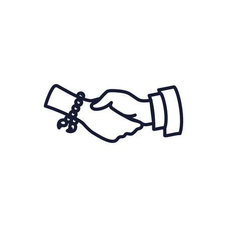 Christian and catholic rosary bracelet design, Religion culture belief religious faith god spiritual meditation and traditional theme Vector illustration Ilustrace
