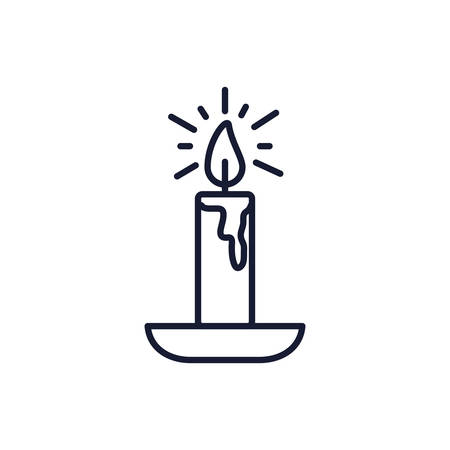 Candle icon design, Fire flame candlelight light spirituality burn and decoration theme Vector illustration Ilustrace
