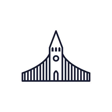 Christian and catholic church design, Religion culture belief religious faith god spiritual meditation and traditional theme Vector illustration Ilustrace