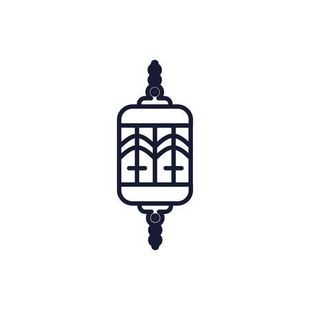 Judaism dreidel symbol design, Religion culture belief religious faith god spiritual meditation and traditional theme Vector illustration
