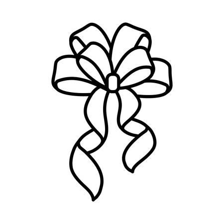 bow tie ribbon decorative icon vector illustration design Foto de archivo - 138475041