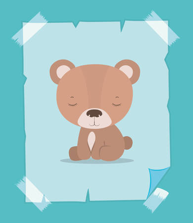 Cute bear cartoon design, Animal zoo life nature character childhood and adorable theme Vector illustration