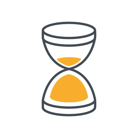 hourglass sand time isolated icon vector illustration design