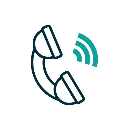 Phone icon design, Call telephone communication hotel office public dial connection and technology theme Vector illustration  イラスト・ベクター素材