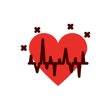 Heart pulse design of Medical care health hospital emergency aid exam clinic and patient theme Vector illustration