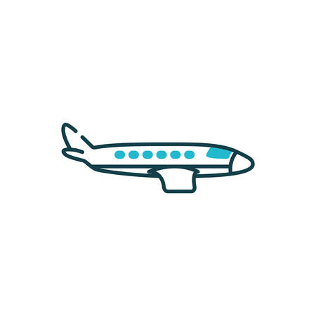 Airplane icon design, Plane vehicle transportation fly air travel aircraft flight aviation and sky theme Vector illustration