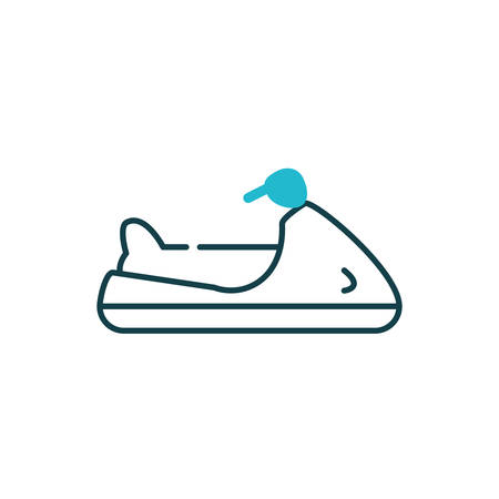 Jet ski vehicle design, Boat nautical transportation marine sea summer ocean and travel theme Vector illustration