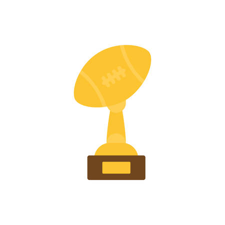Ball trophy design, American football super bowl sport hobby competition game training equipment tournement and play theme Vector illustration