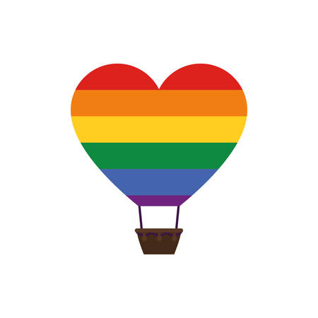 lgtbi heart hot air balloon design, Sexual orientation gender identity love celebration equality pride holiday and festive theme Vector illustration