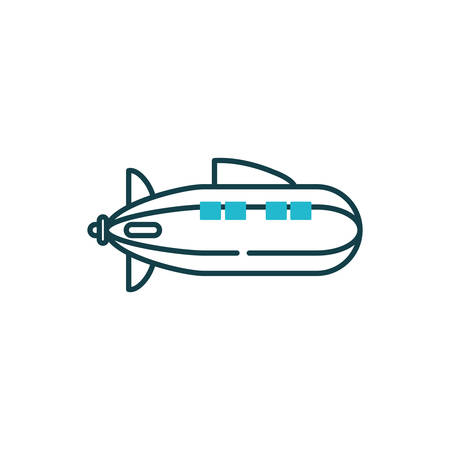 Zeppelin icon design, Plane vehicle transportation fly air travel aircraft flight aviation and sky theme Vector illustration
