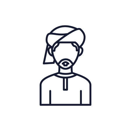 Islam man design, Religion culture belief religious faith god spiritual meditation and traditional theme Vector illustration