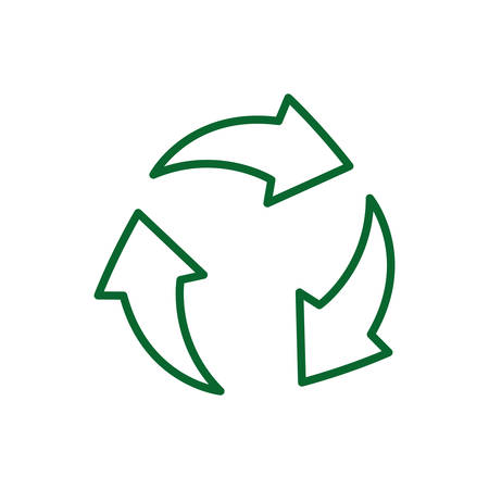 Recycle sign design, Ecology eco save green natural environment protection and care theme Vector illustration Illustration