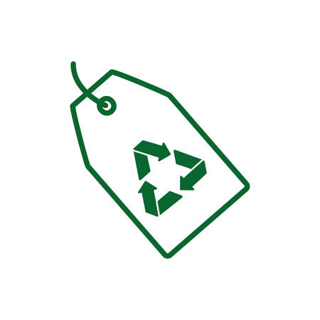 Recycle label design, Ecology eco save green natural environment protection and care theme Vector illustration