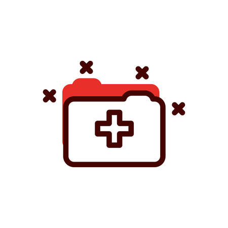 File design of Medical care health emergency aid exam clinic and patient theme Vector illustration Illustration