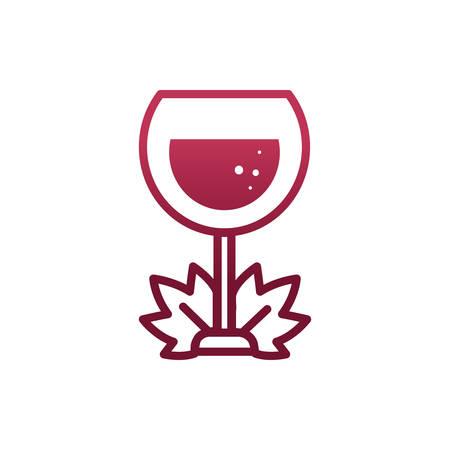 Progettazione della tazza di vino della celebrazione e del tema della festa del ristorante della bevanda dell'alcool della cantina Illustrazione vettoriale