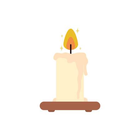 Candle icon design, Fire flame candlelight light spirituality burn and decoration theme Vector illustration Ilustração