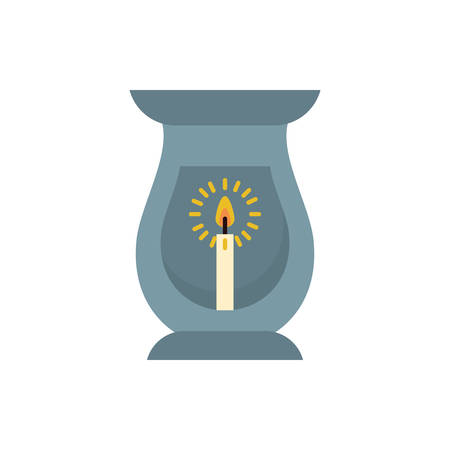 Candle inside lantern design, Fire flame candlelight light spirituality burn and decoration theme Vector illustration Imagens - 139675251