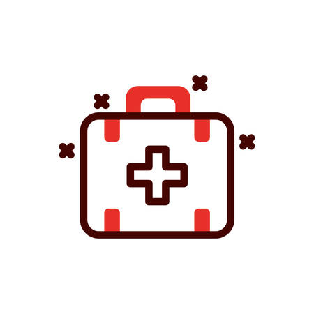 Medical kit design of Medical care health emergency aid exam clinic and patient theme Vector illustration Illustration
