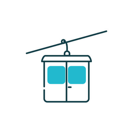 Aerial tramway vehicle design, Transportation travel trip urban motor speed fast automotive and driving theme Vector illustration Illustration