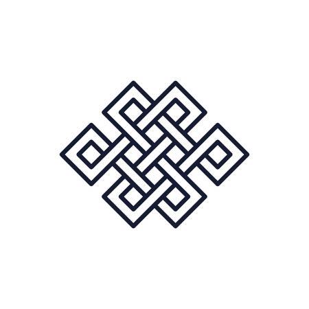 Scandinavian viking square symbol design, Religion culture belief religious faith god spiritual meditation and traditional theme Vector illustration