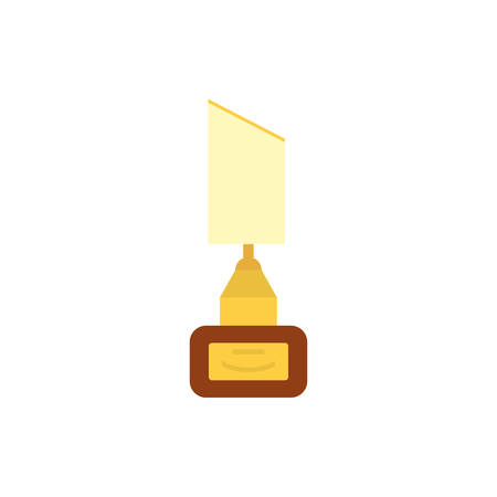Gold and white trophy design, Winner first position competition success sport best leadership compete and challenge theme Vector illustration Stock Illustratie