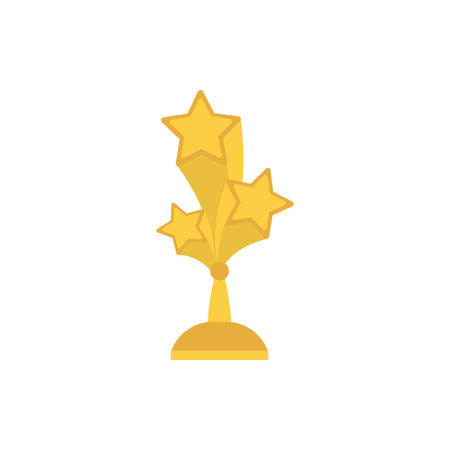 Gold stars trophy design, Winner first position competition success sport best leadership compete and challenge theme Vector illustration