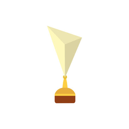 Gold and white trophy design, Winner first position competition success sport best leadership compete and challenge theme Vector illustration 向量圖像